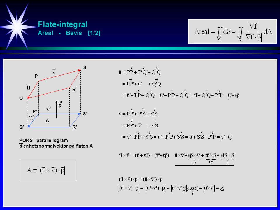 Flate-integral Areal - Bevis [1/2]